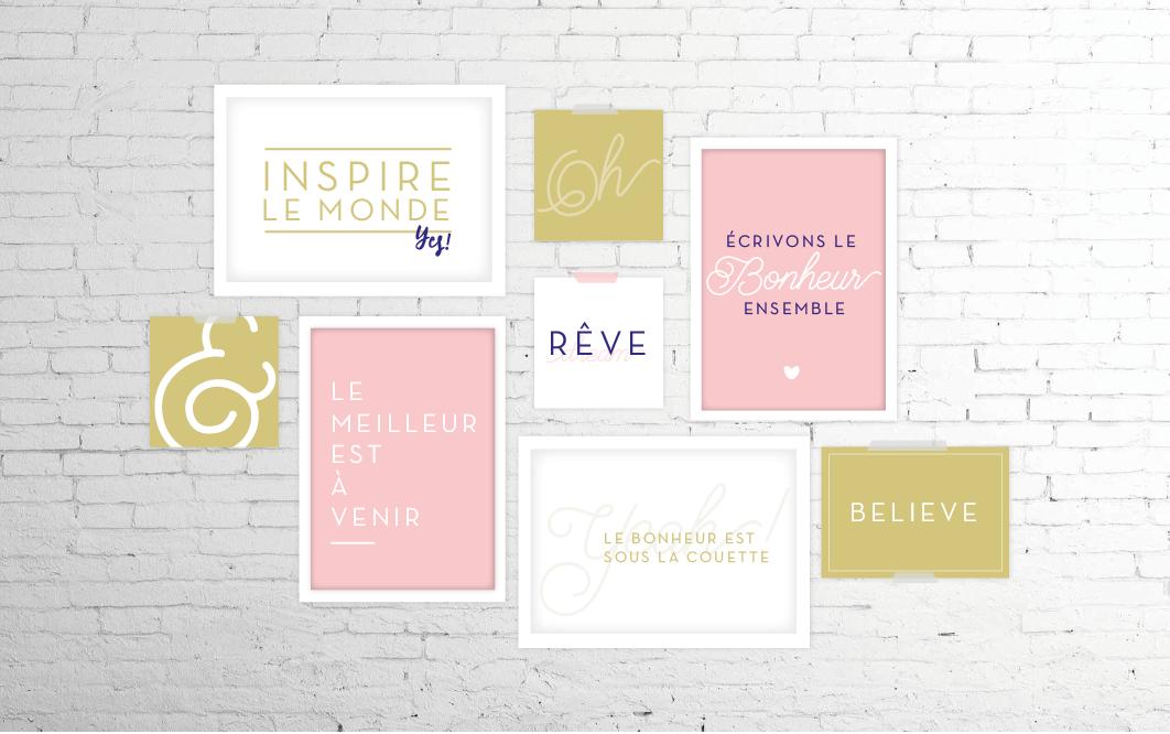 Tableaux typographique positif