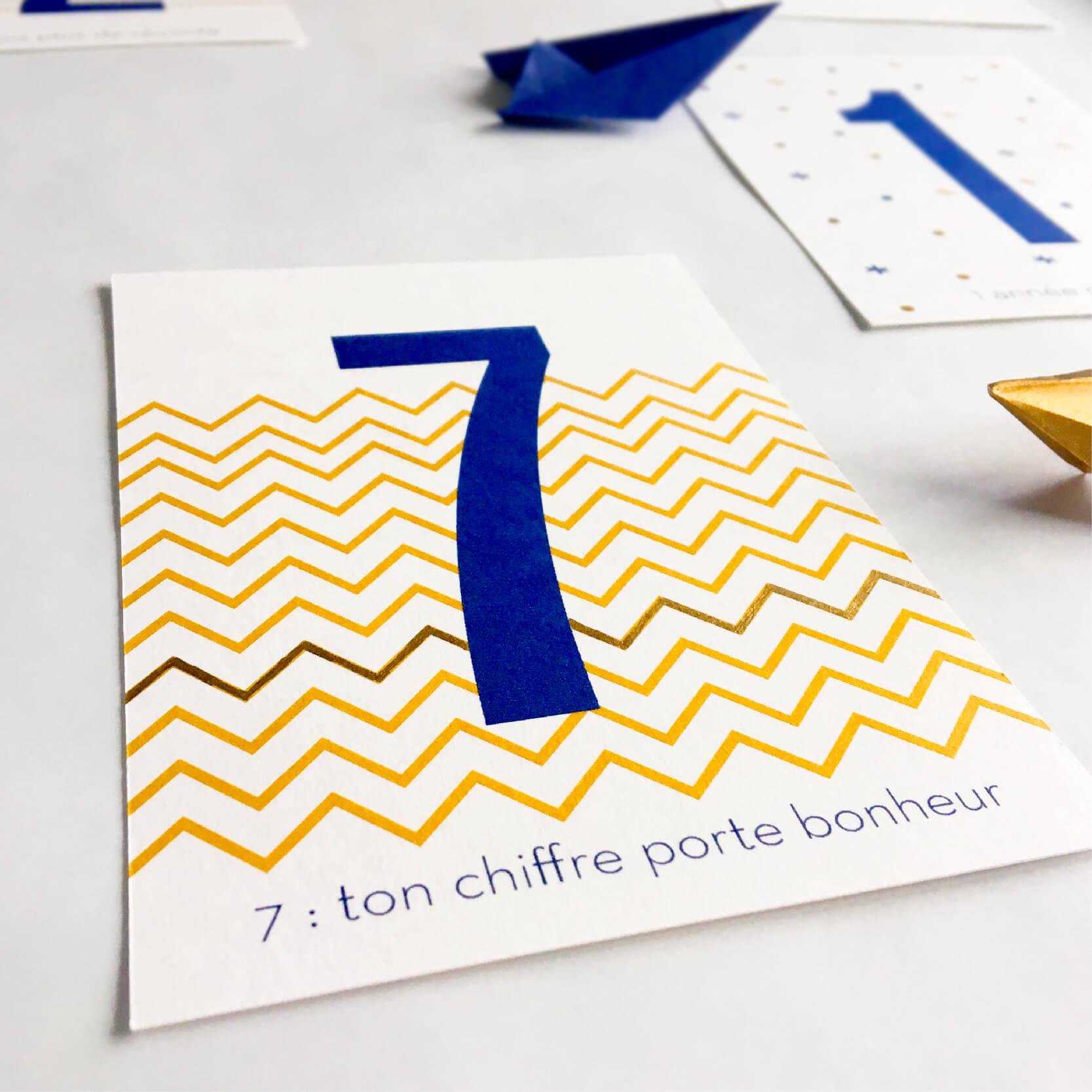 Cartes de voeux 2017 free printable the helloday for Chiffre 7 porte bonheur