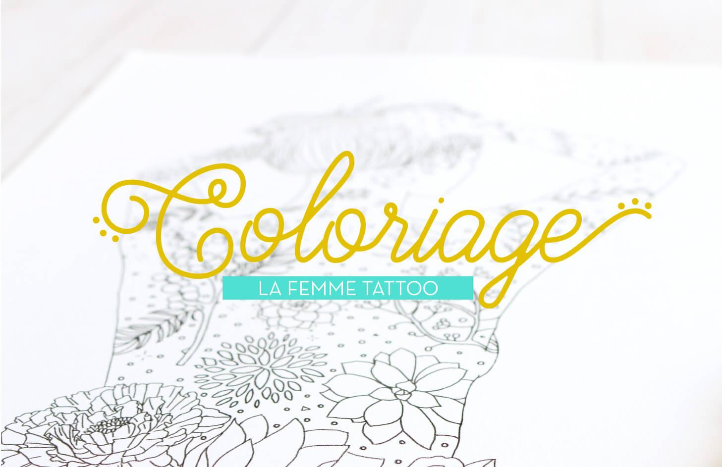 Coloriage - La Femme Tattoo #1