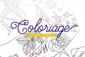 Coloriage - La Femme Tattoo #2