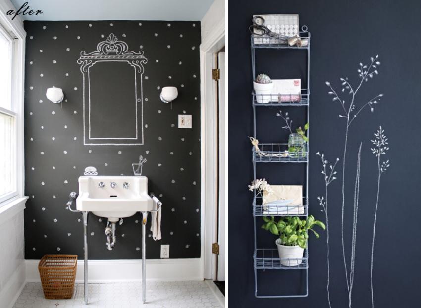 Décorer son intérieur avec de l'ardoise - salle de bain