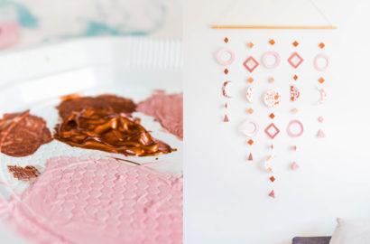 DIY Bijou de mur rose gold